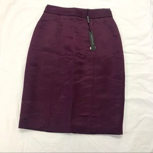 Elie Tahari Dewberry Silk Purple Pencil Skirt 6